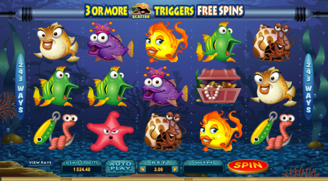Fish Party Themed Pokie