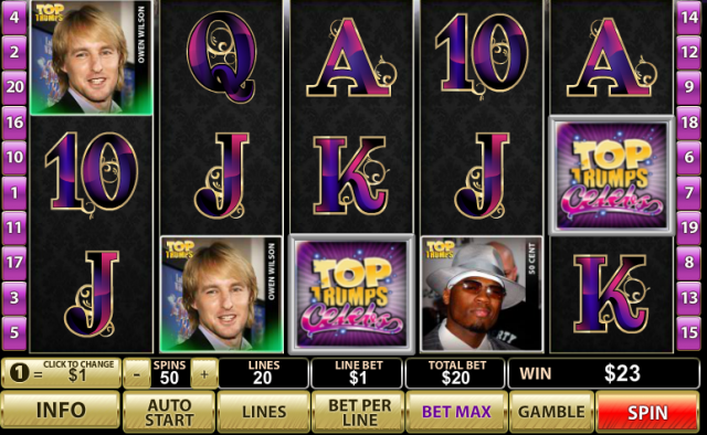 Top Trumps Celebs Pokie
