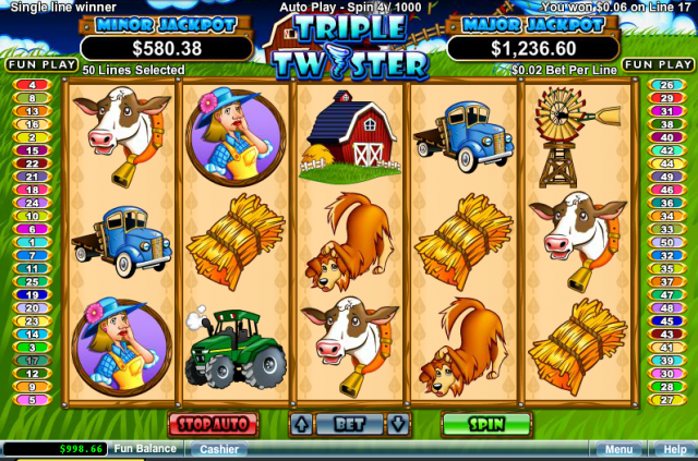 Triple Twister Online Pokie