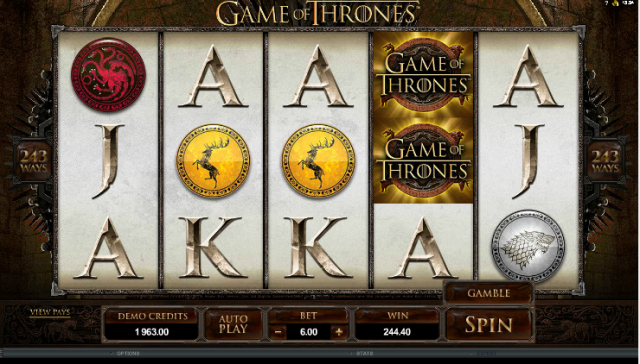 Game of Thrones Playline Game