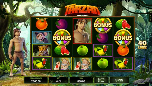 Tarzan pokie by Microgaming