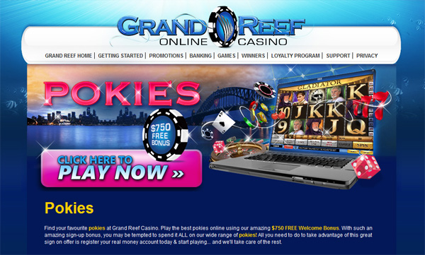 Grand Reef Casino Online