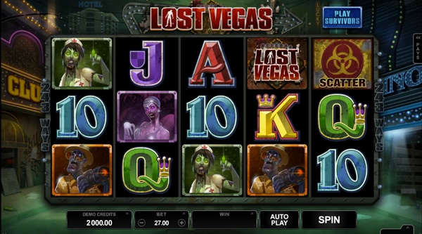 Lost Vegas Pokie by Microgaming